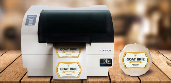 Farb-Etikettendrucker mit Konturenschneider
