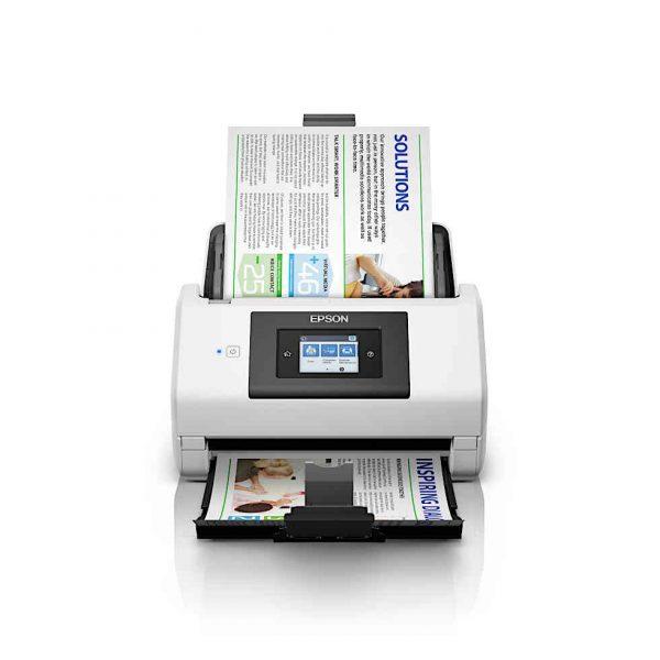 Einzugscanner Epson DS-780N mit Dokumenten im Einzug