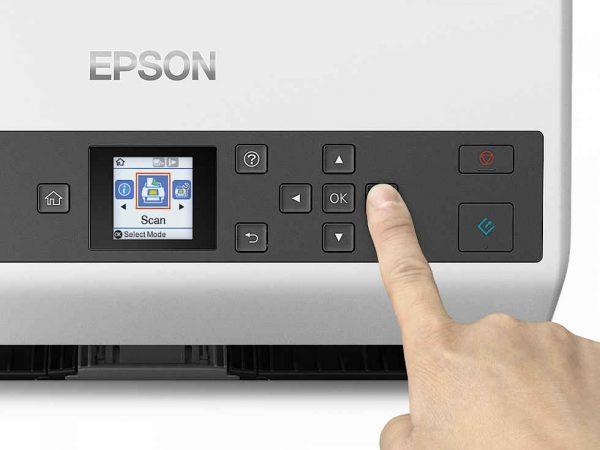 Bedienfeld vom Einzugscanner Epson DS-870